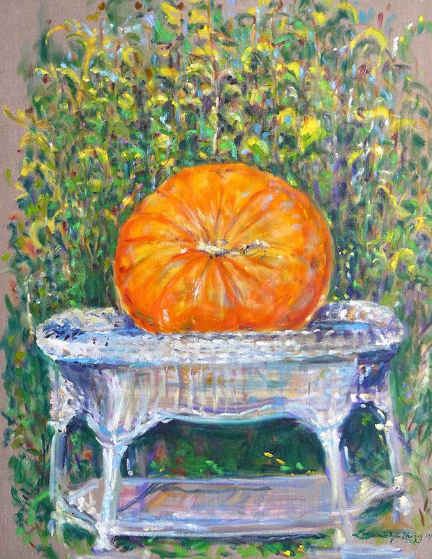 Pumpkin on Wicker