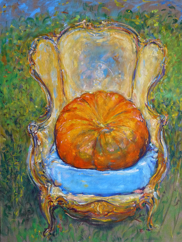 Pumpkin on Chair #3